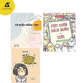 Sách - Combo 3 cuốn Từ điển tiếng em - Vui vẻ không quạu - Một cuốn sách buồn ... cười