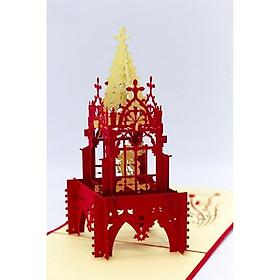 Thiệp 3D Giáng Sinh - Tòa Thánh Noel - NON44