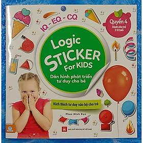 Logic Sticker for kids - dán hình phát triển tư duy cho bé - quyển 4