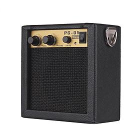 Bộ Khuếch Đại Guitar Mini Bằng Gỗ Loa (5W) (Đầu Vào 6.35mm, Đầu Ra 3.5mm)