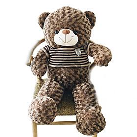 Gấu Bông Teddy Cao Cấp Áo Len Khổ Vải 1m2 Cao 1M (Nâu)