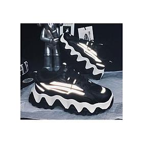 Giày nam sneaker thể thao nam- Giày tăng chiều cao phản quang mẫu mới đế cuộn sóng SP0345