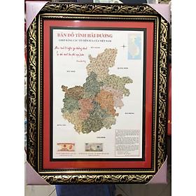 Tranh tỉnh Hải Dương ghép thủ công bằng tiền cổ Việt Nam, trung bày biếu tặng