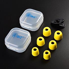 Bộ 3 cặp típ bọt biển cho tai nghe QKZ có hộp đựng và kẹp dây tai nghe - Hàng chính hãng