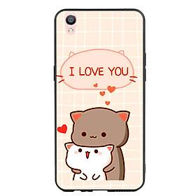 Ốp lưng viền TPU cho điện thoại Oppo F1 Plus - I Love U
