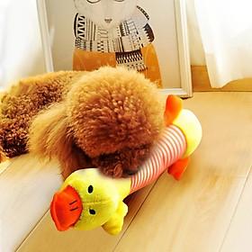 Đồ chơi cho chó mèo hình những chú heo, voi, vịt ngộ nghĩnh bằng vải nhồi bông, phát ra âm thanh khi thú cưng cắn hoặc bóp vào, chiều dài 26cm, giao mẫu ngẫu nhiên - GB55