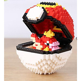 Mô hình lắp ghép Pokemon Lego dạng Pokeball
