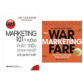 Combo 2 cuốn sách martketing bán hàng hay nhất: Free Marketing – 101 Ý Tưởng Phát Triển Doanh Nghiệp Với Chi Phí Thấp + Nghệ Thuật Dụng Binh Trong Marketing ( Tặng kèm Bookmark Happy Life)