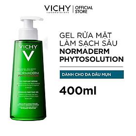 Gel Rửa Mặt Sạch Sâu Giảm Nhờn Vichy Normaderm Phytosolution 400ml
