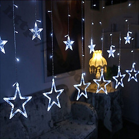 Đèn leb trang trí hình ngôi sao - 6 sao lớn và 6 sao nhỏ