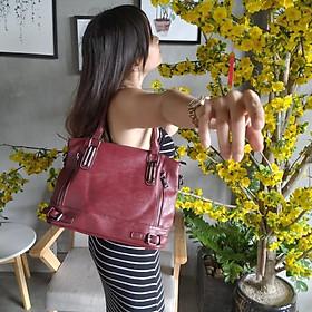Túi xách da nữ Hàn Quốc form rộng đựng được vài tờ giấy A4 (Nhiều màu để chọn)