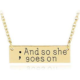 Choker Pendant Necklace Gold Chain Accessories Gifts Women Men
