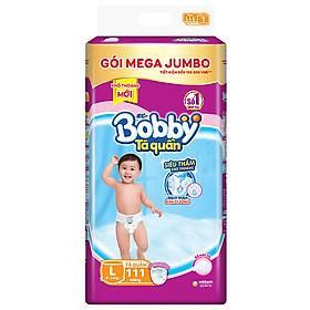 Tã/bỉm quần Bobby gói Mega Jumbo L111 (9 - 13kg) [Tặng phao bơi hình thú INTEX]-1