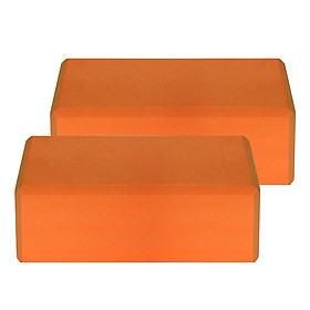 1PCS / 2PCS EVA Yoga Blocks Latex-free Non-slip Surface for Yoga Pilates Meditation
