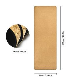 Cork Yoga Mat Natural Cork Mat Anti-slip Exercise Mat Travel Mat-4