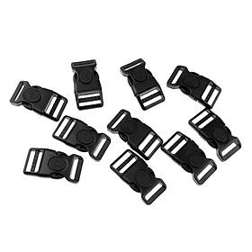 10pcs Plastic Black Curved Buckle Side Release For Paracord Bracelet