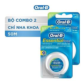 Combo 2 Chỉ Nha Khoa Oral-B Essential Mint (Hộp 50m)