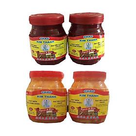 Chao Kim Thành lốc 4 hũ 350g/hũ ( chao đậu hũ + chao đỏ )