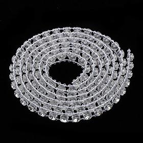 1 Yard Faux Rhinestone Chain Crystal Trim Ribbon DIY for Wedding Bridal 9mm