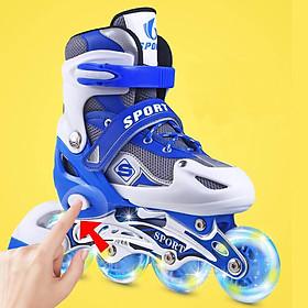 Giày patin trẻ em siêu hot cho bé màu xanh