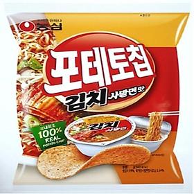 NONGSHIM Potato Chip Kimchi Instant Cup Ramen Flavor 125g
