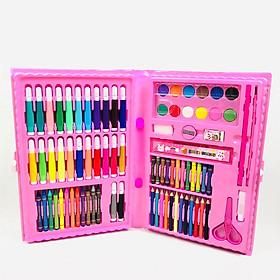 Hộp bút màu 86 chi tiết đủ tất các dạng màu hỗ trợ cho bé sáng tạo, phát triển trí tuệgng( vỏ hộp giao ngẫu nhiên )