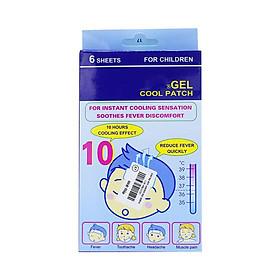 Miếng dán hạ sốt  hộp 6 miếng, Làm mát tức thì, dùng trong các trường hợp sốt, say nắng, đau cơ
