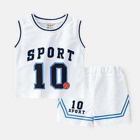 Bộ ba lỗ bóng rổ SPORT chất thông hơi cho bé 8-18kg QATE572