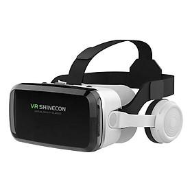 Kính Thực Tế Ảo Bluetooth Hỗ Trợ Màn Hình 6.5inch Có Tai Nghe VR Shinecon G04BS - Hàng Chính Hãng