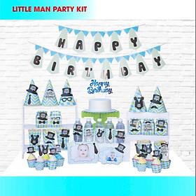 set trang trí sinh nhật chủ đề LITTLE MAN