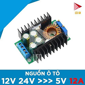 Nguồn Ô TÔ 3A - Chuyển Đổi Điện Áp ẮC-QUY 12V 24V về 5V 12A
