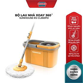 Bộ Lau Nhà Xoay 360 Độ Sunhouse Ks-Cl350PO