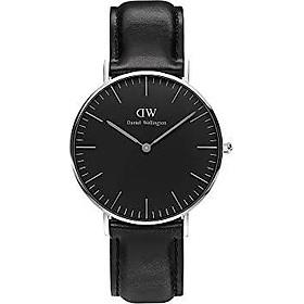 Daniel Wellington Classic Sheffield Silver Watch, 36mm, Leather, for Men and Women
