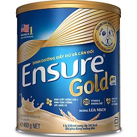 Sữa Bột Abbott Ensure Gold Hương Lúa Mạch Ít Ngọt 400g