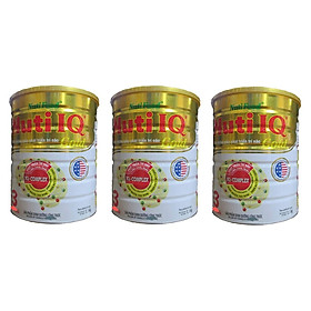 Bộ 3 Lon Sữa Bột Nutifood Nuti IQ Gold Step 3 (Từ 1 - 2 tuổi) - 1.5kg