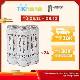 Lốc 24 Lon Nước Tăng Lực Monster Energy Ultra (24 x 355ml)