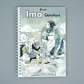 Sổ vẽ phác thảo chuyên dụng NaBii Ima Sketchbook 160gsm (Mẫu 2020)