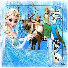 Ghép hình gỗ 16 mảnh - Combo 5 tranh bộ Elsa