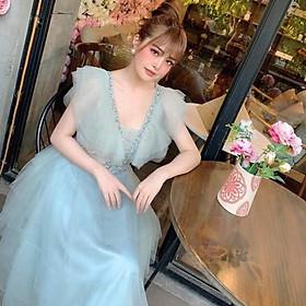 Đầm xoè dự tiệc xếp tầng kết cườm TRIPBLE T DRESS -Size M/L (kèm ảnh/video thật) MS160V