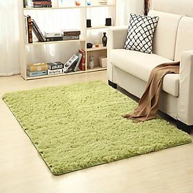 50x120cm Simple Solid Color Plush Carpet Mat for Living Room Tea Table Bedroom Bedside