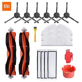 18PCS  Main Brush Side Brush Filter Mop Cloth Comb Blade For Xiaomi Robot Vacuum Cleaner