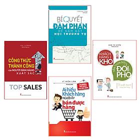 Combo ( 4 cuốn sách): Top Sales Công Thức Thành Công Của Ngườu Bán Hàng Xuất Sắc +Bí Quyết  Đàm Phán +Khách Hàng Khó Thừa Sức Đối Phó+Ai Hiểu Khách Hàng