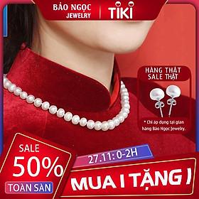 Vòng cổ Ngọc Trai chuỗi ngọc trai nước ngọt thiên nhiên cao cấp DB-3904 Bảo Ngọc Jewelry