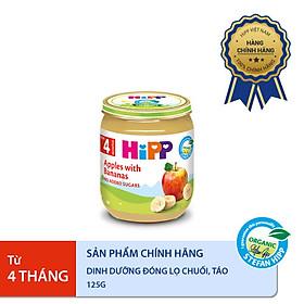 Dinh dưỡng đóng lọ ăn dặm  Chuối Táo HiPP Organic 125g