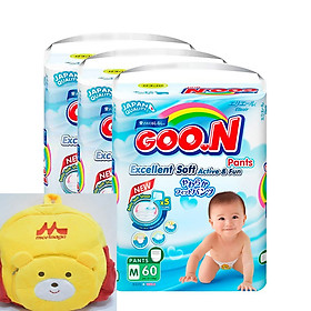 3 bịch bỉm quần Goon Slim đại M60/l48/xl42/xxl34 tặng ngay ba lô cho bé