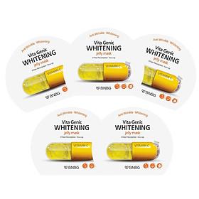 Combo 5 Mặt nạ giấy dưỡng da trắng sáng và làm đều màu da BNBG Vita Genic Whitening Jelly Mask (Vitamin C) 30ml Số lượng 5