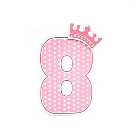 Số Tuổi Trang Trí Sinh Nhật Công Chúa Happy Kibu- 8 Tuổi