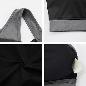 Women Sports Bra Padded Stretchable Quick Dry Breathable Cross-Back Spliced Yoga Fitness Gym Crop Bra Sportswear-7