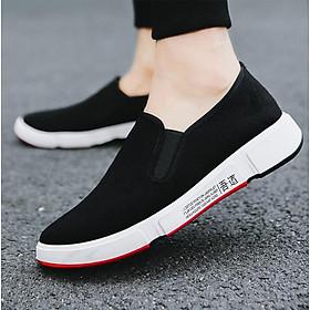 Giày Lười Slip-On Nam 3Fashion Shop Vải Mềm Êm Thiết Kế Nam Tính - 3156