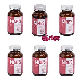 Combo 6 Hộp Viên Uống Trắng Da Mờ Tàn Nhang Nine's Beauty 30 Viên bổ sung Collagen, Nano Glutathione, Nano Curcumin làm đẹp da hỗ trợ hỗ trợ điều trị nám tàn nhang, chống lão hóa giảm nếp nhăn Điều hòa nội tiết tố nữ